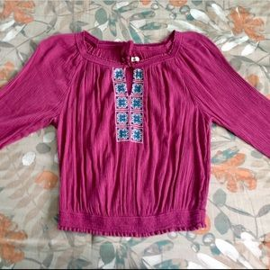 Hollister Peasant Blouse